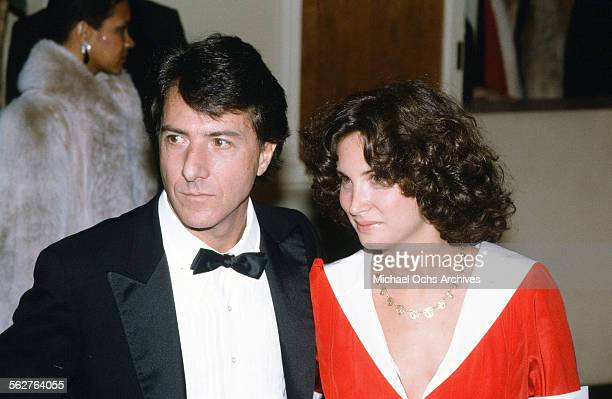 Actor Dustin Hoffman with his wife Lisa Hoffman arrive to the 55th Academy Awards at Dorothy Chandler Pavilion in Los AngelesCalifornia
