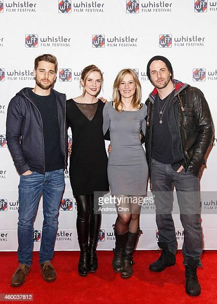 Actor Dustin Milligan Actress Sara Canning Actress Camille Sullivan and Actor Niall Matter arrive at 'Spotlight On Sarah Gadon' at Whistler Film...