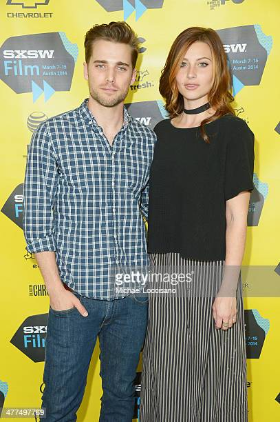Actor Dustin Milligan and actress Aly Michalka attend the Sequoia premiere during the 2014 SXSW Music Film Interactive Festival at the Topfer Theatre...