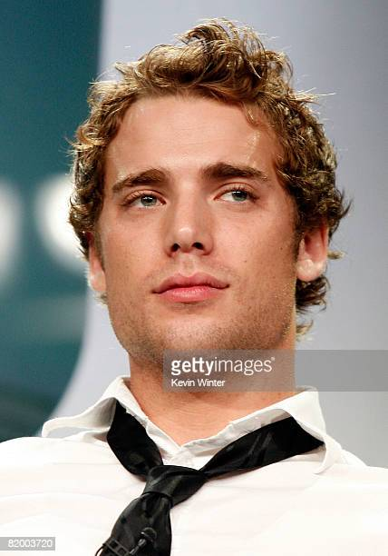 Actor Dustin Milligan of 90210 speaks during the CW portion of the Television Critics Association Press Tour held at the Beverly Hilton hotel on July...