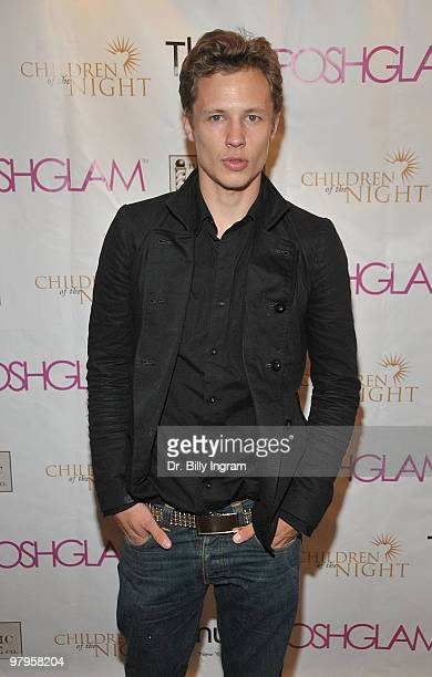 Actor Dustin Varpness attends the POSHGLAMCOM to benefit children of the night at the Celebrity Vault on March 22 2010 in Beverly Hills California