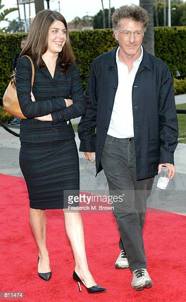 """Actor Duston Hoffman and his daughter Jenna attend the world film premiere of """"Changing Lanes"""" April 7, 2002 in Los Angeles, CA."""