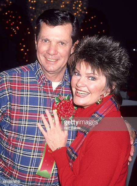 Actor Dwayne Hickman and wife Joan Roberts attend the 63rd Annual Hollywood Christmas Parade on November 27, 1994 at KTLA Studios in Hollywood,...