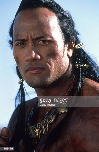 Actor Dwayne Johnson aka 'The Rock' performs a scene from 'The Mummy Returns' The blockbuster movie was released on DVD and home video on October 2...