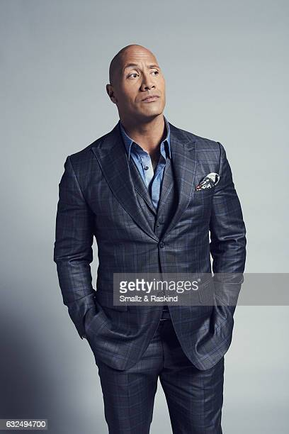 Actor Dwayne Johnson aka The Rock poses for a portrait at the 2017 People's Choice Awards at the Microsoft Theater on January 18 2017 in Los Angeles...