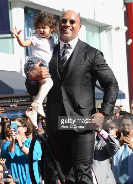 Actor Dwayne Johnson and Jasmine Johnson at the Dwayne Johnson Star Ceremony On The Hollywood Walk Of Fame held on December 13 2017 in Hollywood...
