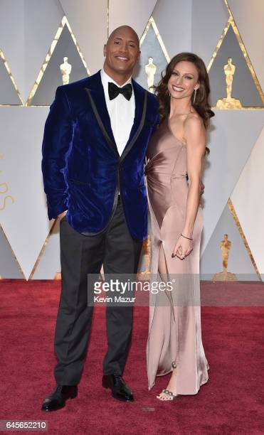 Actor Dwayne Johnson and Lauren Hashian attend the 89th Annual Academy Awards at Hollywood & Highland Center on February 26, 2017 in Hollywood,...