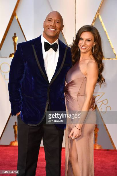 Actor Dwayne Johnson, and Lauren Hashian attend the 89th Annual Academy Awards at Hollywood & Highland Center on February 26, 2017 in Hollywood,...