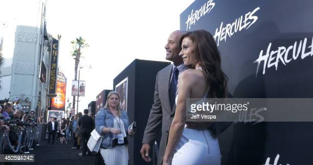 Actor Dwayne Johnson and Lauren Hashian attend the Los Angeles premiere of Hercules at TCL Chinese Theatre on July 23 2014 in Hollywood California