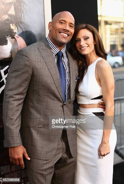 "Actor Dwayne Johnson and Lauren Hashian attend the premiere of Paramount Pictures' ""HERCULES"" at TCL Chinese Theatre on July 23, 2014 in Hollywood,..."