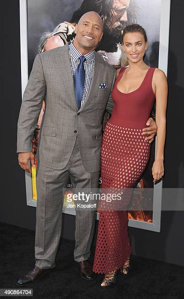 Actor Dwayne Johnson and model Irina Shayk arrive at the Los Angeles Premiere 'Hercules' at TCL Chinese Theatre on July 23 2014 in Hollywood...