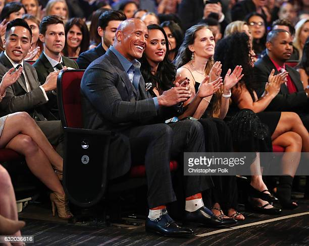 Actor Dwayne Johnson and Simone Alexandra Johnson attend the People's Choice Awards 2017 at Microsoft Theater on January 18 2017 in Los Angeles...
