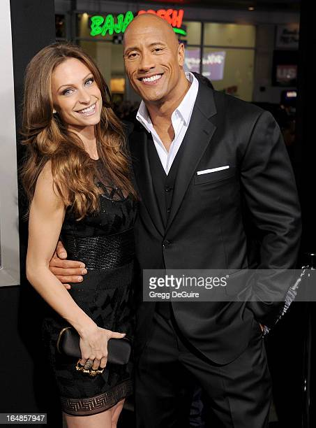 "Actor Dwayne Johnson and singer Lauren Hashian arrive at the ""G.I. Joe: Retaliation"" Los Angeles premiere at TCL Chinese Theatre on March 28, 2013 in..."