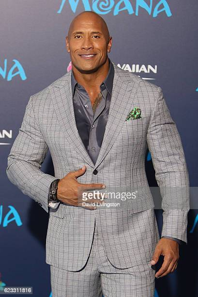 Actor Dwayne Johnson arrives at the AFI FEST 2016 presented by Audi premiere of Disney's 'Moana' held at the El Capitan Theatre on November 14 2016...