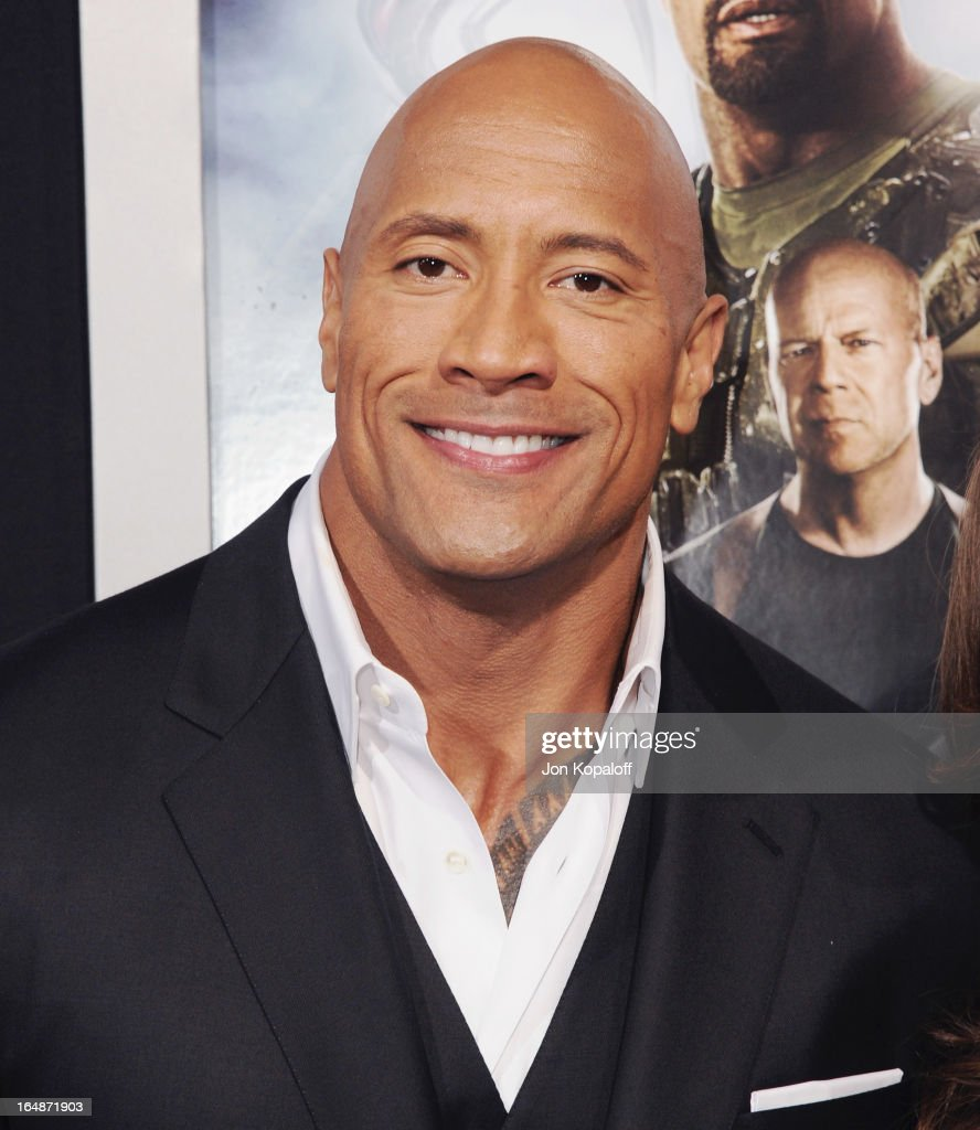 Actor Dwayne Johnson arrives at the Los Angeles Premiere 'G.I. Joe: Retaliation' at TCL Chinese Theatre on March 28, 2013 in Hollywood, California.