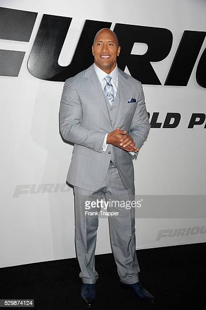 Actor Dwayne Johnson arrives at the premiere of Furious 7 held at the TCL Chinese Theater in Hollywood