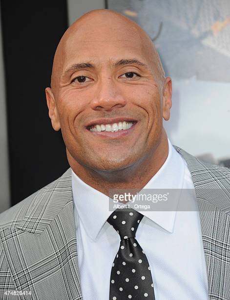 Actor Dwayne Johnson arrives for the Premiere Of Warner Bros Pictures' San Andreas held at TCL Chinese Theatre on May 26 2015 in Hollywood California