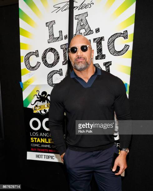 Actor Dwayne Johnson attends ENTERTAINMENT WEEKLY Presents Dwayne 'The Rock' Johnson at Stan Lee's Los Angeles ComicCon at Los Angeles Convention...