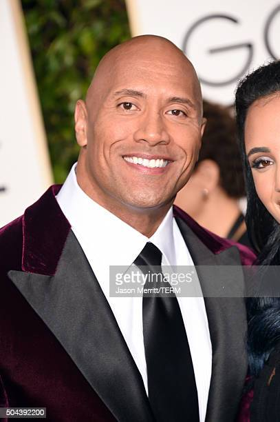 Actor Dwayne Johnson attends the 73rd Annual Golden Globe Awards held at the Beverly Hilton Hotel on January 10 2016 in Beverly Hills California