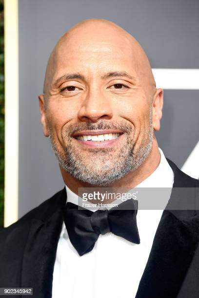 Actor Dwayne Johnson attends The 75th Annual Golden Globe Awards at The Beverly Hilton Hotel on January 7 2018 in Beverly Hills California