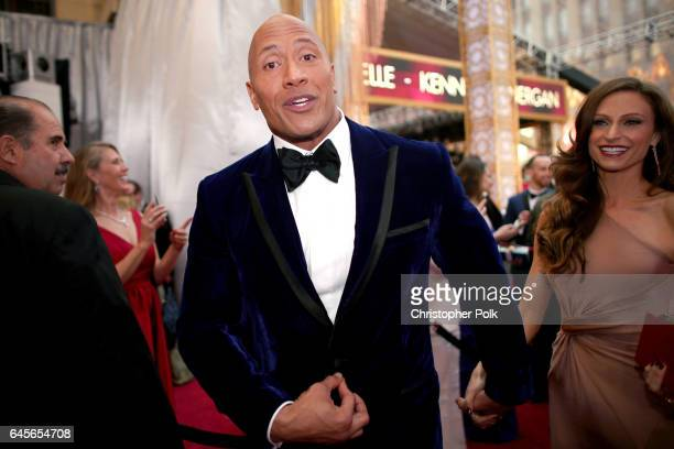 Actor Dwayne Johnson attends the 89th Annual Academy Awards at Hollywood Highland Center on February 26 2017 in Hollywood California