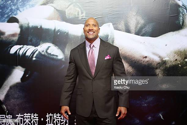 Actor Dwayne Johnson attends the Chinese Premiere of Hercules at the Wanda CBD on October 16, 2014 in Beijing, China.