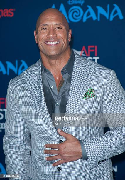 Actor Dwayne Johnson attends the Disney Premiere 'Moana' in Hollywood California on November 14 2016 / AFP / LILLY LAWRENCE
