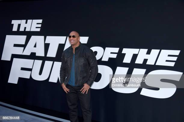 Actor Dwayne Johnson attends The Fate Of The Furious New York Premiere at Radio City Music Hall on April 8 2017 in New York City