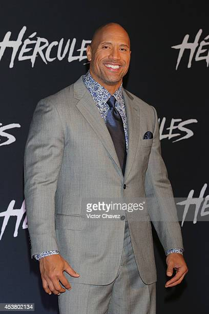 Actor Dwayne Johnson attends the Latin American Premiere of Paramount Pictures 'HERCULES' at Cinemex Antara on August 18 2014 in Mexico City Mexico