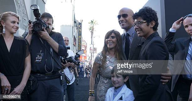 Actor Dwayne Johnson attends the Los Angeles premiere of Hercules at TCL Chinese Theatre on July 23 2014 in Hollywood California