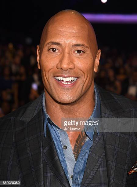 Actor Dwayne Johnson attends the People's Choice Awards 2017 at Microsoft Theater on January 18 2017 in Los Angeles California