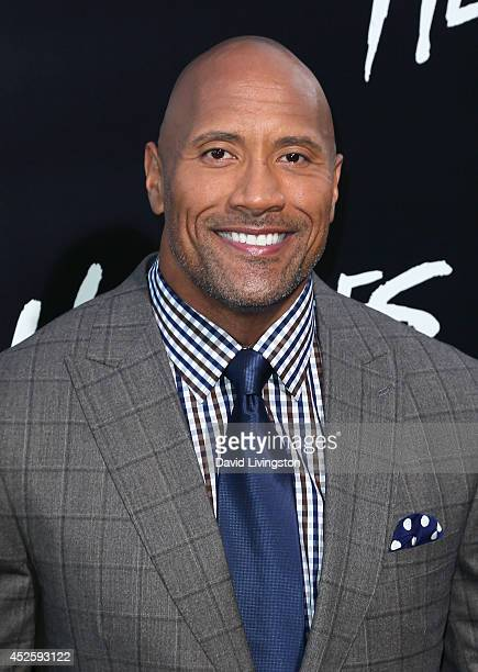 Actor Dwayne Johnson attends the premiere of Paramount Pictures' 'Hercules' at the TCL Chinese Theatre on July 23 2014 in Hollywood California