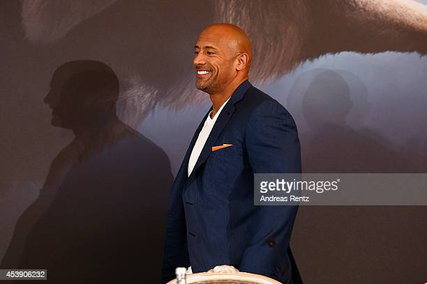 Actor Dwayne Johnson attends the press conference of Paramount Pictures 'HERCULES' at Hotel Adlon on August 21, 2014 in Berlin, Germany.