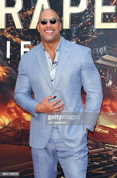 Actor Dwayne Johnson attends the 'Skyscraper' New York premiere at AMC Loews Lincoln Square on July 10 2018 in New York City