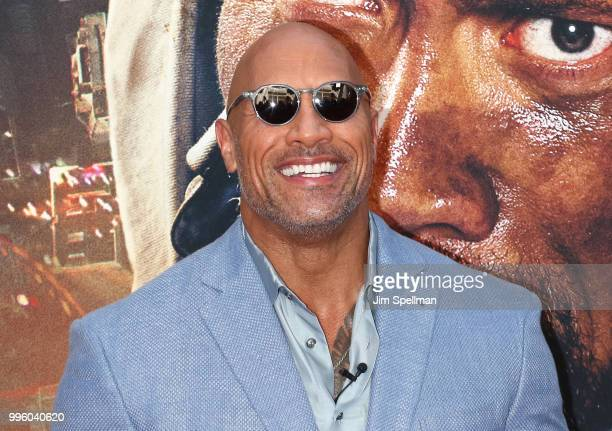 Actor Dwayne Johnson attends the Skyscraper New York premiere at AMC Loews Lincoln Square on July 10 2018 in New York City