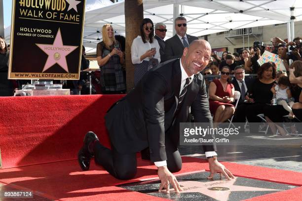 Actor Dwayne Johnson is honored with star on the Hollywood Walk of Fame on December 13 2017 in Hollywood California