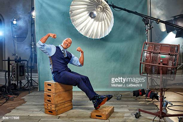 Actor Dwayne Johnson is photographed for Sports Illustrated on November 14 2016 in Beverly Hills California PUBLISHED IMAGE CREDIT MUST READ Michael...