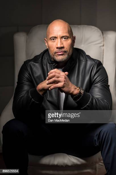 Actor Dwayne Johnson is photographed for USA Today on December 12 2017 in Los Angeles California