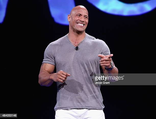 Actor Dwayne Johnson of MOANA took part today in 'Pixar and Walt Disney Animation Studios The Upcoming Films' presentation at Disney's D23 EXPO 2015...