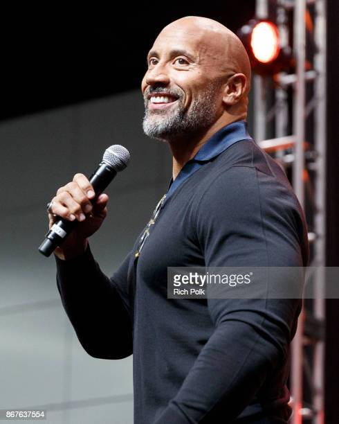 Actor Dwayne Johnson onstage at ENTERTAINMENT WEEKLY Presents Dwayne 'The Rock' Johnson at Stan Lee's Los Angeles ComicCon at Los Angeles Convention...
