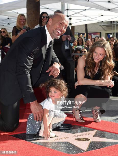 Actor Dwayne Johnson wife Lauren Hashian and daughter Jasmine Johnson attend the ceremony honoring Dwayne Johnson with star on the Hollywood Walk of...