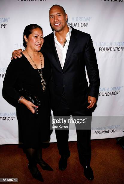 "Actor Dwayne ""The Rock"" Johnson and his mother Ata Johnson attend the 2009 I Have a Dream Foundation spring gala at 583 Park Avenue June 11, 2009 in..."