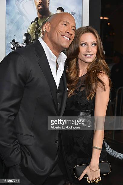 Actor Dwayne 'The Rock' Johnson and Lauren Hashian attend the premiere of Paramount Pictures' 'GI Joe Retaliation' at TCL Chinese Theatre on March 28...