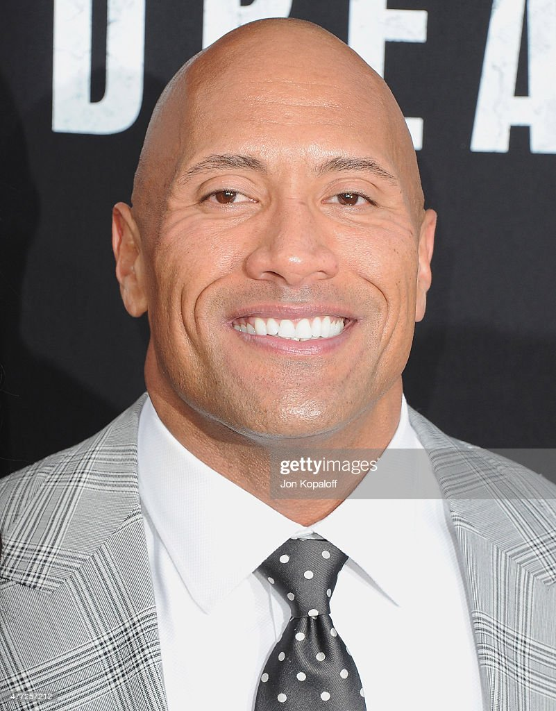 Actor Dwayne 'The Rock' Johnson arrives at the Premiere Of Warner Bros. Pictures' 'San Andreas' at TCL Chinese Theatre on May 26, 2015 in Hollywood, California.