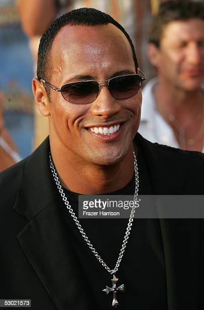 """Actor Dwayne """"The Rock"""" Johnson arrives to the 2005 MTV Movie Awards at the Shrine Auditorium June 4, 2005 in Los Angeles, California. The 14th..."""