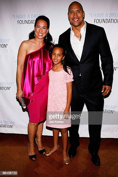 "Actor Dwayne ""The Rock"" Johnson , his manager Dany Garcia , and their daughter Simone Johnson attend the 2009 I Have a Dream Foundation spring gala..."