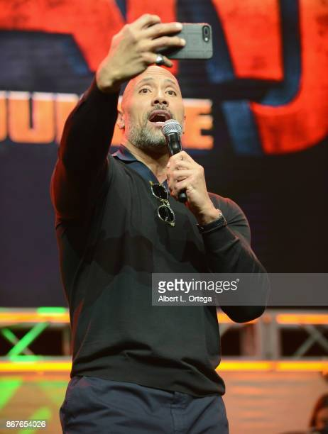 Actor Dwayne 'The Rock' Johnson on day 2 of Stan Lee's Los Angeles Comic Con 2017 held at Los Angeles Convention Center on October 28 2017 in Los...
