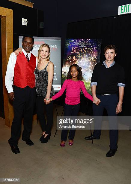 Actor Dwight Henry screenwriter Lucy Alibar actress Quvenzhane Wallis and director Benh Zeitlin attend the 2012 Variety Screening Series of 'Beasts...