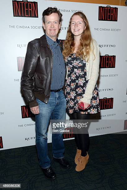 Actor Dylan Baker and daughter Willa Baker attend a screening of Warner Bros Pictures' The Intern hosted by The Cinema Society and Ruffino on...