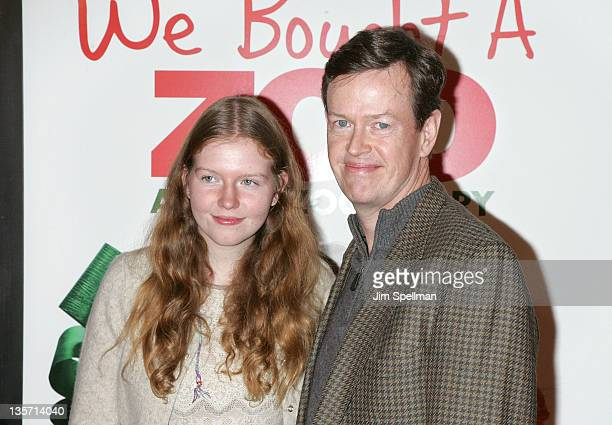 Actor Dylan Baker and daughter Willa Baker attend the We Bought a Zoo premiere at Ziegfeld Theater on December 12 2011 in New York City